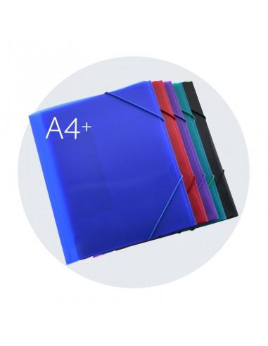 Carpeta con cierre de gomas A4+